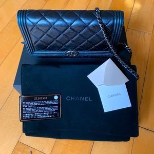 Authentic boy Chanel wallet on chain